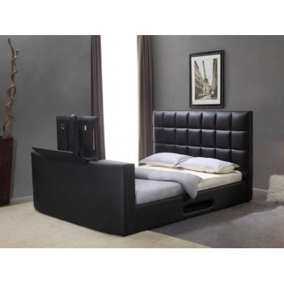 pied de lit tv integre en ligne. Black Bedroom Furniture Sets. Home Design Ideas