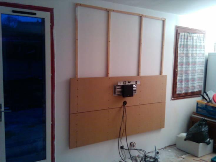support mural tv diy. Black Bedroom Furniture Sets. Home Design Ideas