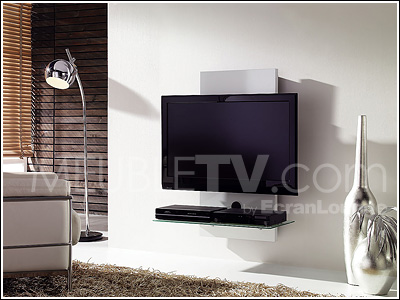 Support mural tv en bois - Support tv mural design ...