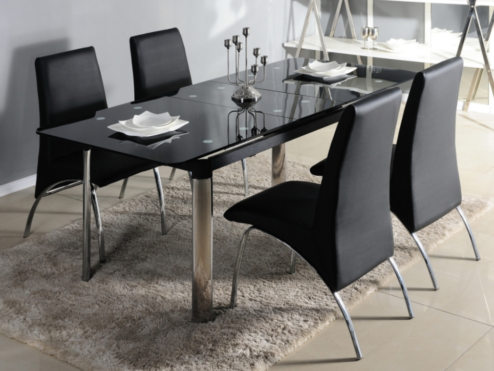 table manger en verre design pas cher. Black Bedroom Furniture Sets. Home Design Ideas