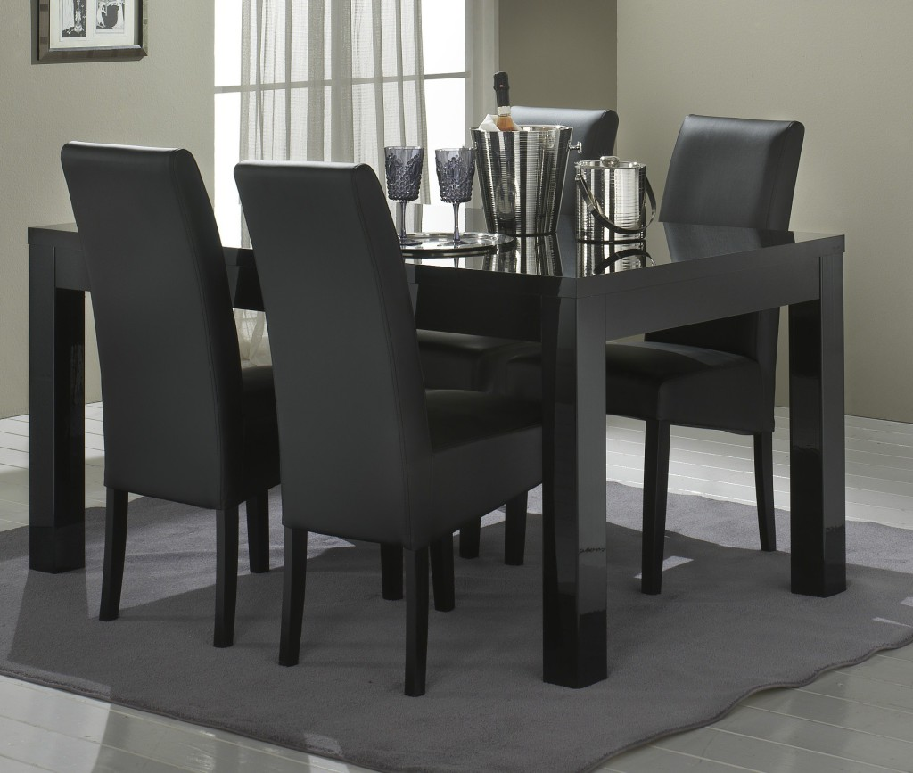 table a manger noire pas cher. Black Bedroom Furniture Sets. Home Design Ideas