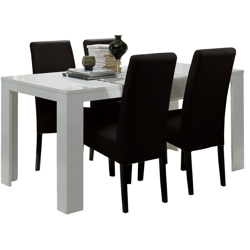 Table a manger pas chere maison design - Table a manger noire ...