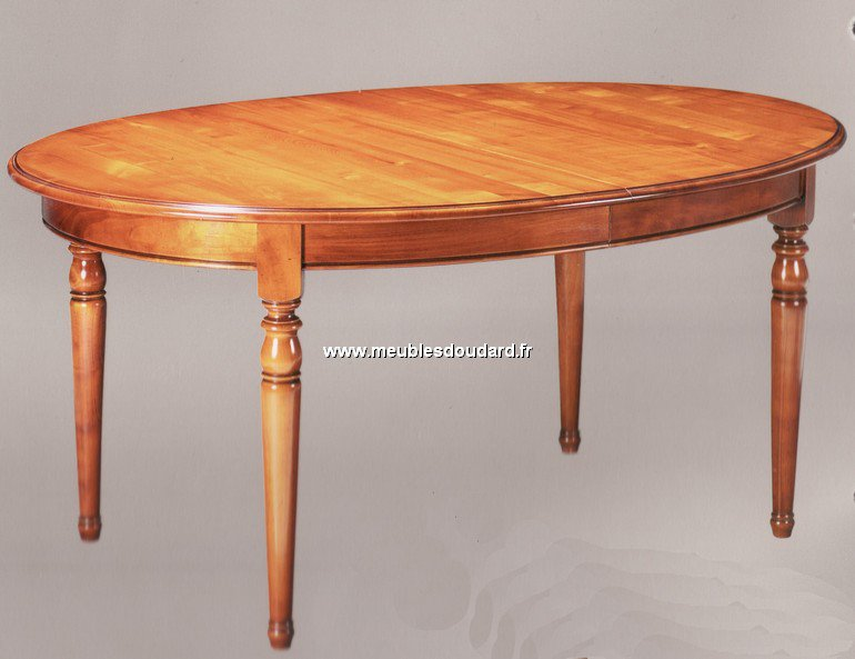 Table bois ovale avec rallonge for Table a manger avec rallonge integree