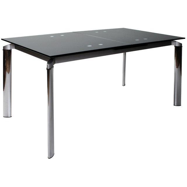 Table a manger verre et acier - Table de cuisine originale ...