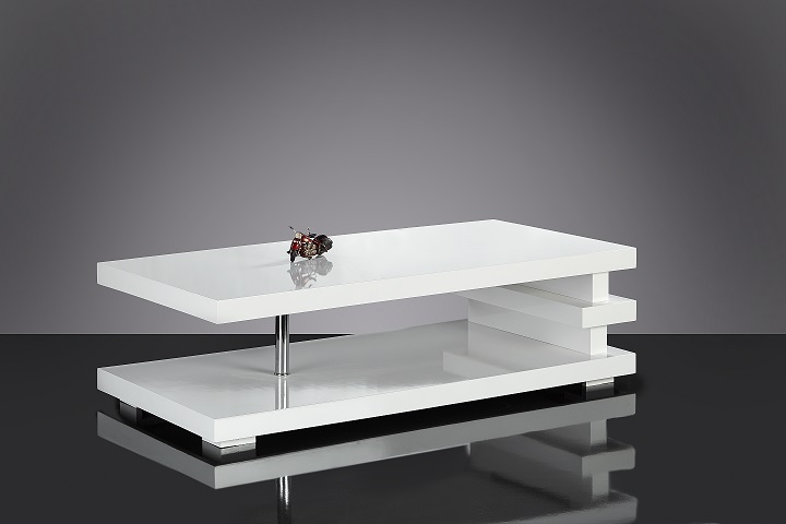 Table basse design blanc - Table basse contemporaine design ...
