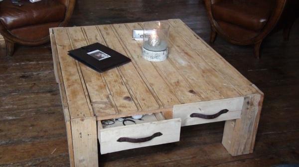 table basse salon fait maison. Black Bedroom Furniture Sets. Home Design Ideas