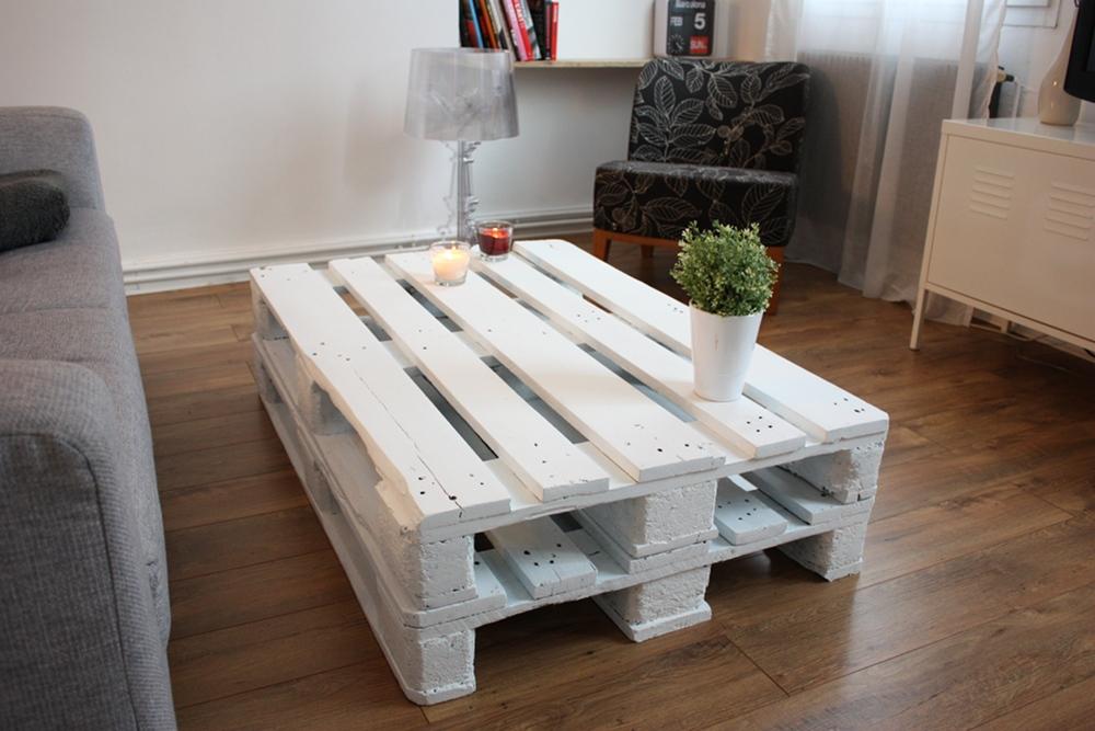 organisation table basse fait maison