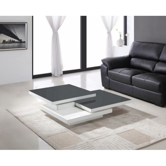 Attractive table basse gris et blanc 11 table basse relevable avec rallonge - Table basse a rallonge ...