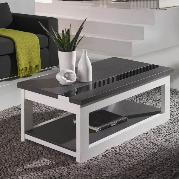 Photo table basse grise et blanc - Table basse grise design ...