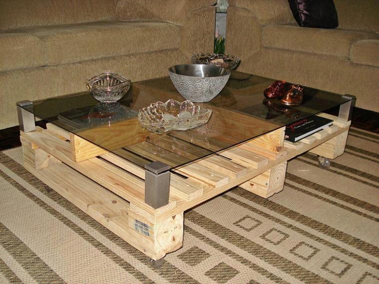 Table basse palette verre - Table basse palette verre ...