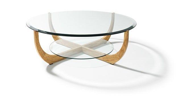 Table basse verre et bois - Table basse ronde bois et verre ...