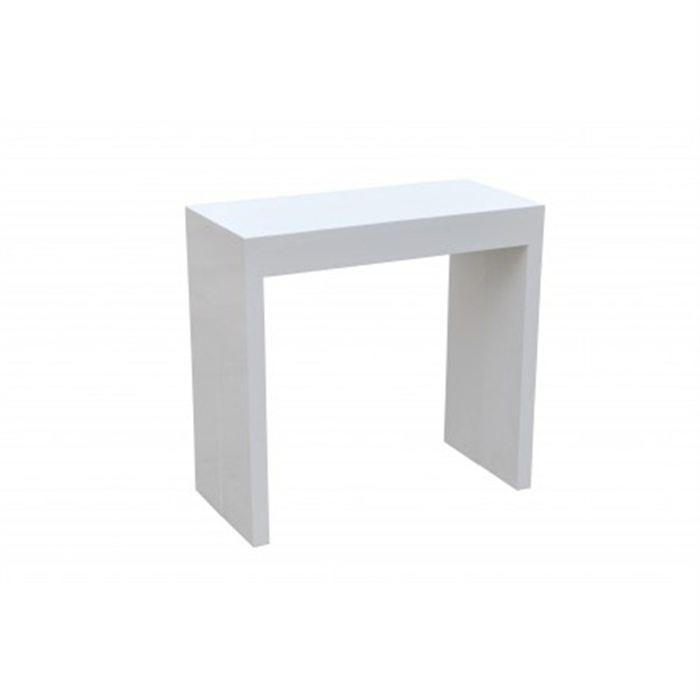 Id e table console laquee blanche for Table laquee blanche