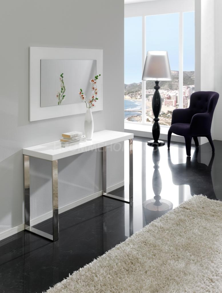 photo table console laquee blanche. Black Bedroom Furniture Sets. Home Design Ideas