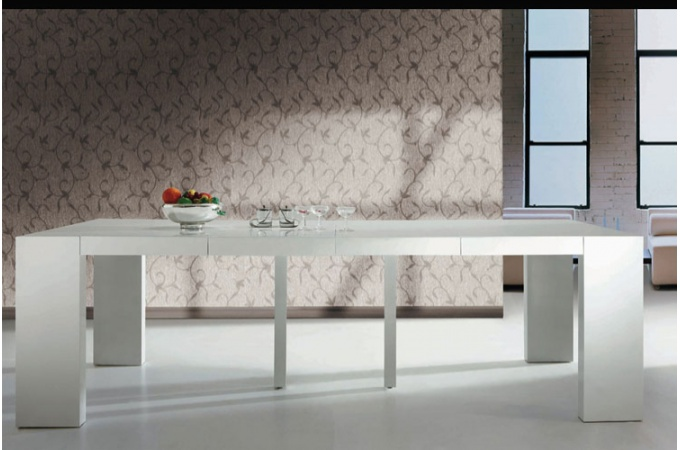 Table console pied central - Table console extensible pied central ...