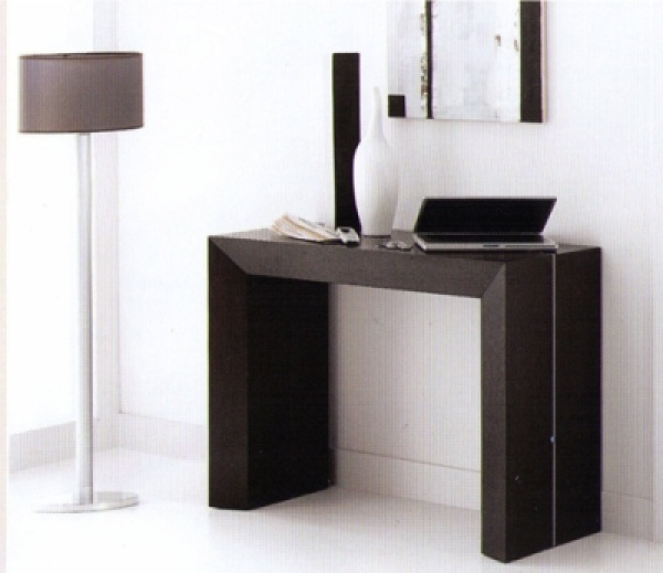 Table console wenge extensible - Table console extensible wenge ...