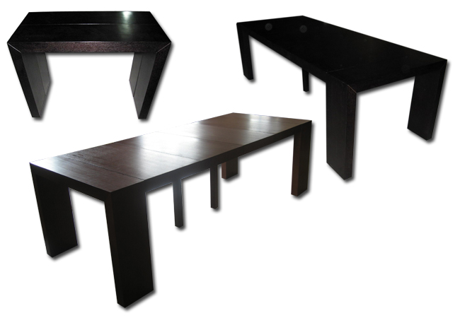 visuel table console wenge extensible
