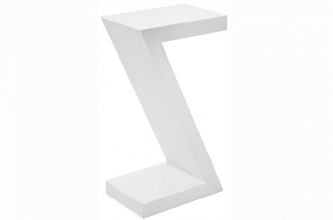Trouver table d 39 appoint blanc laque z - Table d appoint laque blanc ...