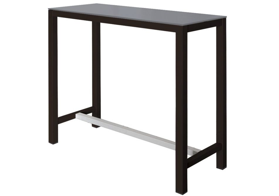 Table de bar rectangulaire for Table bar haute bois