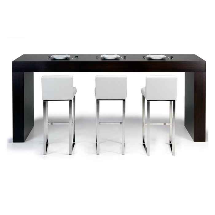 table de bar haute rectangulaire. Black Bedroom Furniture Sets. Home Design Ideas