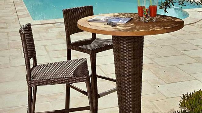 table de bar jardin. Black Bedroom Furniture Sets. Home Design Ideas