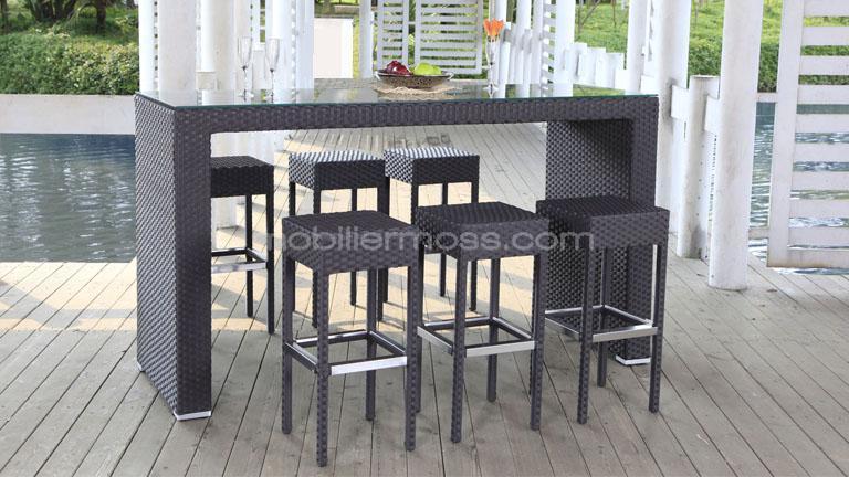 Trouver table de bar jardin for Table de bar grise