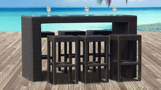 table bar de jardin. Black Bedroom Furniture Sets. Home Design Ideas