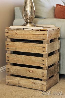 visuel table de chevet fait maison. Black Bedroom Furniture Sets. Home Design Ideas