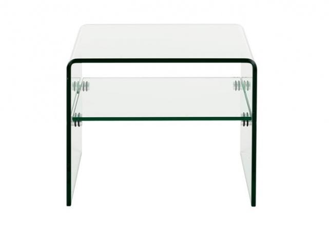 Id e table de chevet verre metal - Table de chevet metal ...