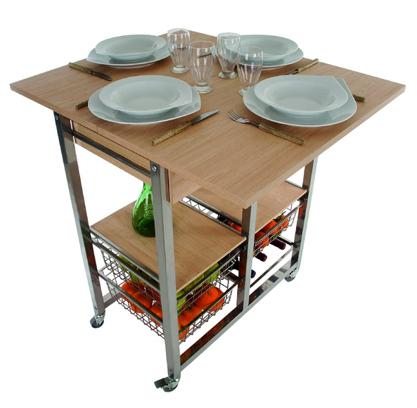 Table a desserte for Table de cuisine pliante conforama