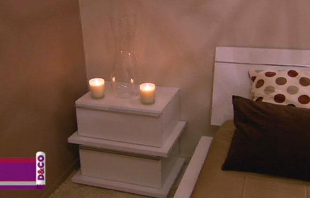 idée table de nuit zen