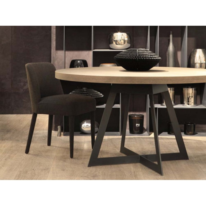 visuel table de salle a manger ronde. Black Bedroom Furniture Sets. Home Design Ideas