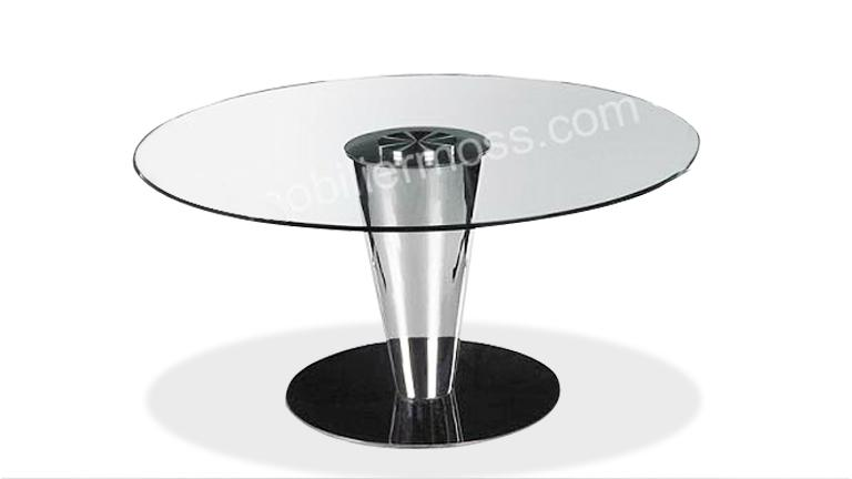 Table de salle a manger ronde - Table salle a manger ronde en verre ...
