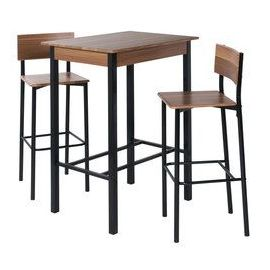 tabouret de bar et table haute. Black Bedroom Furniture Sets. Home Design Ideas