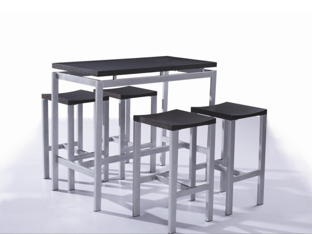 Table rabattable cuisine paris table haute avec tabouret - Table bar 2 tabourets ...