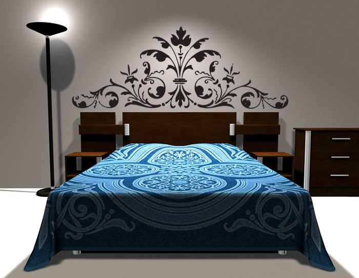 visuel tete de lit decorative. Black Bedroom Furniture Sets. Home Design Ideas