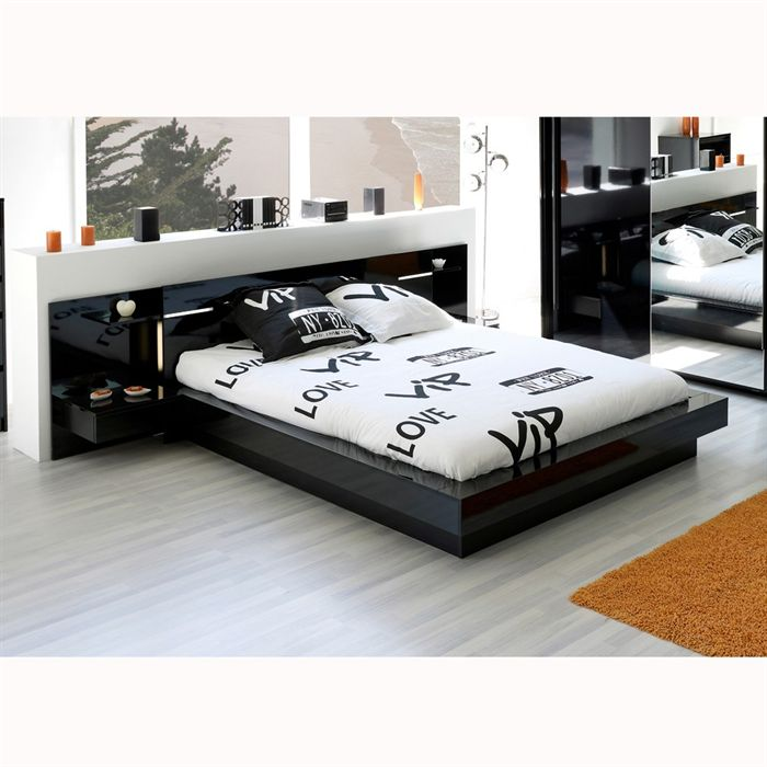 tete de lit noire 140 en ligne. Black Bedroom Furniture Sets. Home Design Ideas