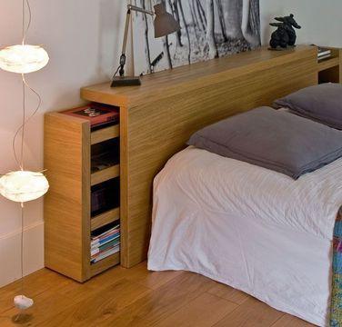 tete de lit rangement fly. Black Bedroom Furniture Sets. Home Design Ideas