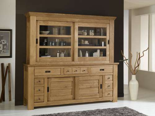 trouver vaisselier en bois massif. Black Bedroom Furniture Sets. Home Design Ideas