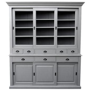 vaisselier gris ceruse. Black Bedroom Furniture Sets. Home Design Ideas