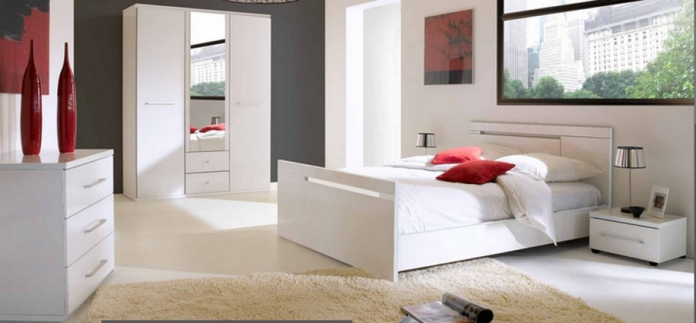 Best Meuble Chambre Blanc Contemporary - House Design - marcomilone.com