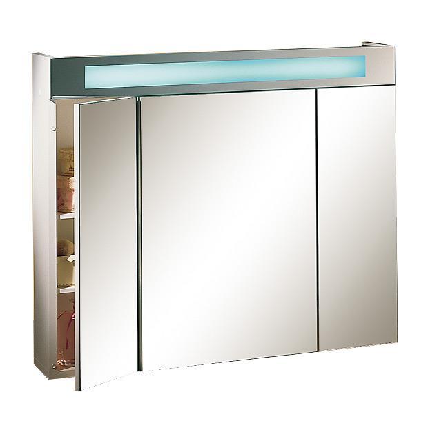 Armoire salle de bain miroir triptyque maison design for Armoire salle de bain miroir eclairage