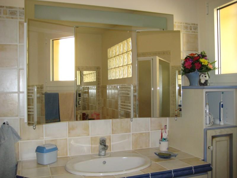Photo armoire salle de bain miroir triptyque for Miroir salle de bain armoire