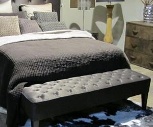banc de lit cuir
