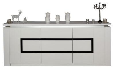 buffet bas blanc but. Black Bedroom Furniture Sets. Home Design Ideas