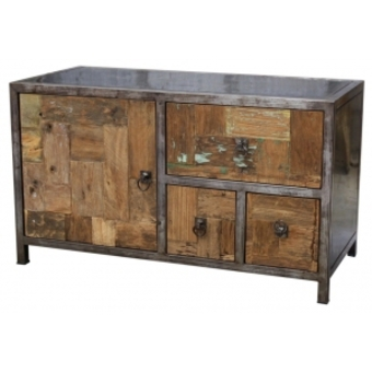 Buffet bas style industriel for Buffet style industriel