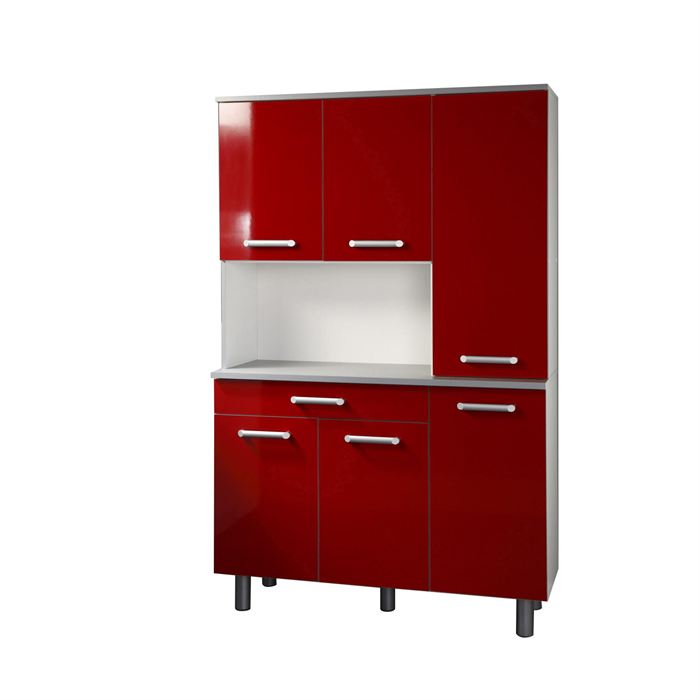 Meuble de cuisine rouge berlioz creations cg8br meuble for Fixer meuble haut cuisine