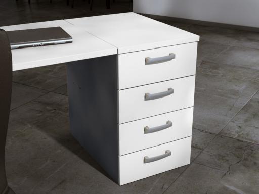caisson de bureau fixe. Black Bedroom Furniture Sets. Home Design Ideas
