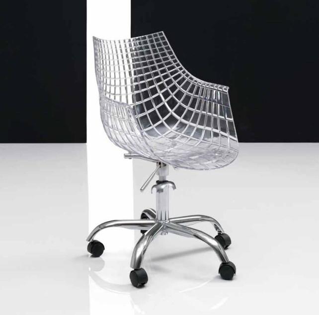 chaise de bureau transparente. Black Bedroom Furniture Sets. Home Design Ideas