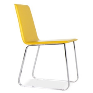 Awesome chaise de cuisine jaune pictures for Chaise jaune moutarde