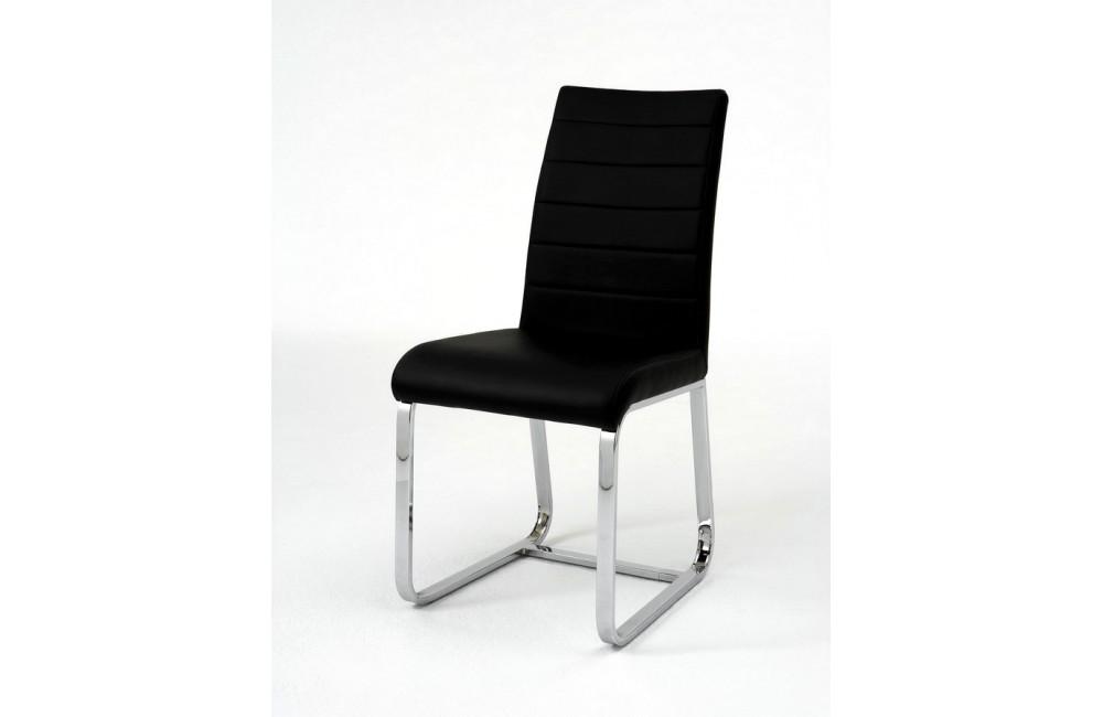 chaise de salle a manger design noire et rouge